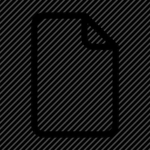 document, empty, file, paper icon