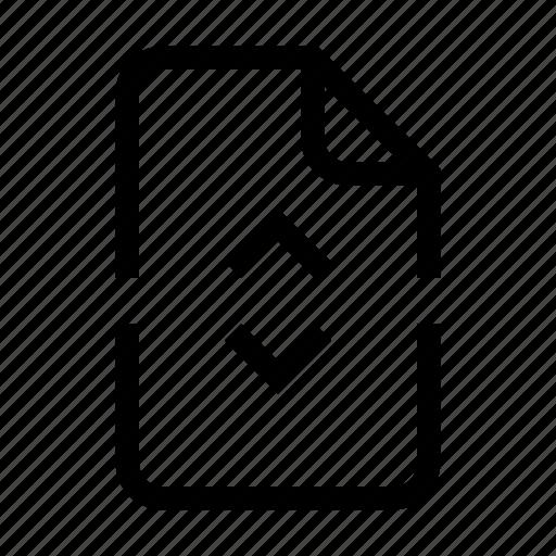 action, document, file, split icon