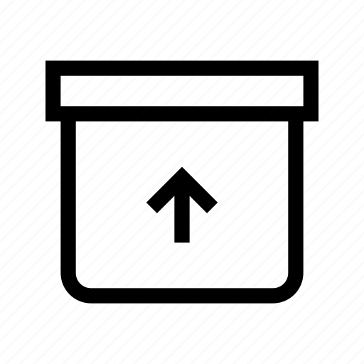box, document, file, mail, unarchive icon