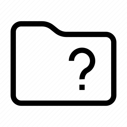 action, content, document, folder, question, unknown icon