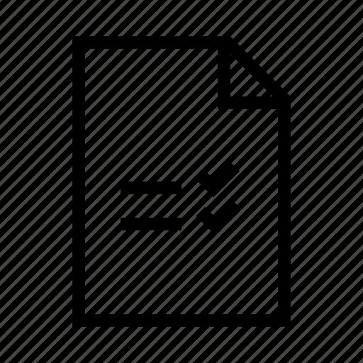 checklist, document, file, list, task icon