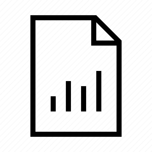 analystic, bar, chart, data, document, file, report icon