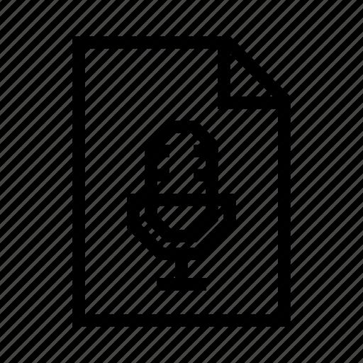 audio, file, mp3, music, record, sound icon