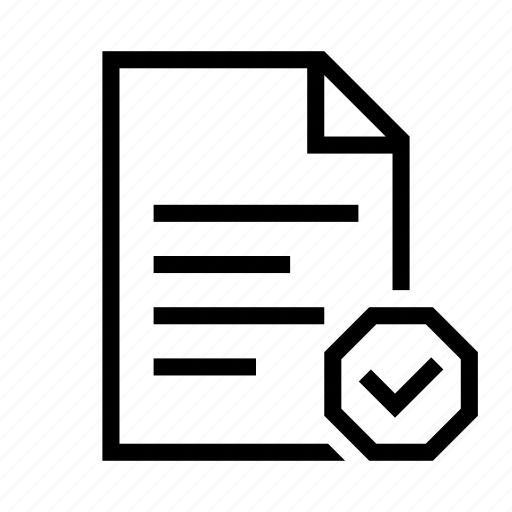 checkmark, complete, document, done, file, page, text icon