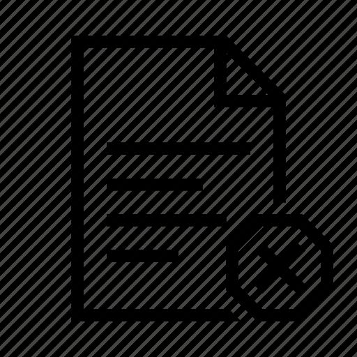 delete, document, file, page, paper, remove, text icon