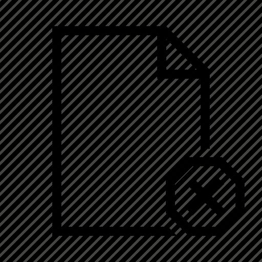 delete, document, empty, file, page, remove, text icon