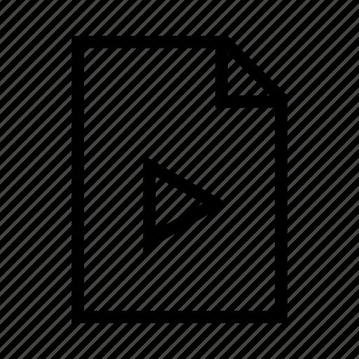 avi, file, mov, movie, mp4, video, wmv icon