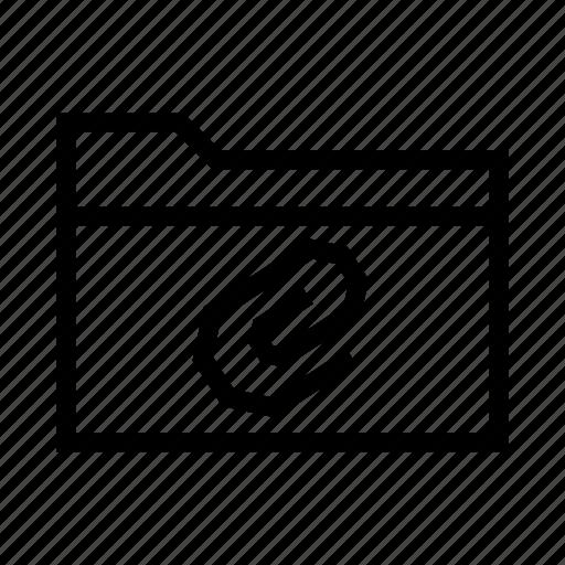 attach, attachment, clip, collection, folder, paper icon