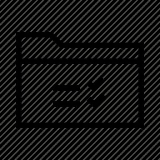 checklist, collection, document, folder, list, task icon