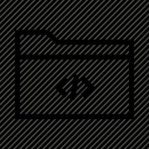 code, collection, folder, html, programming, xml icon