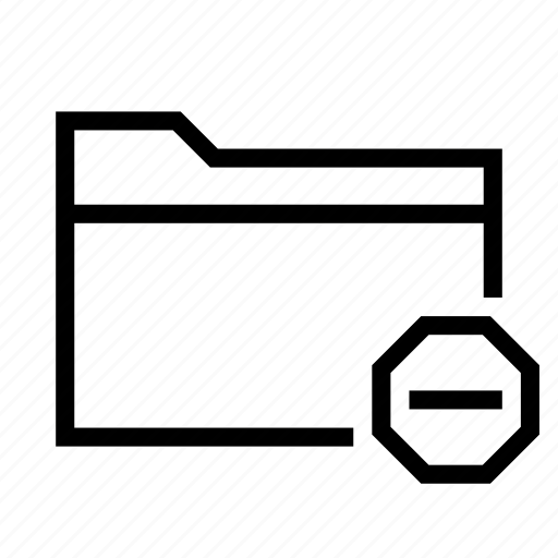 collection, delete, empty, folder, group, minus, remove icon