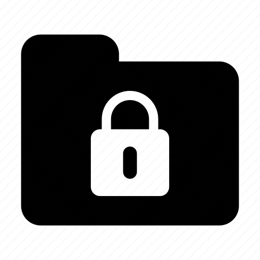 document, folder, lock icon