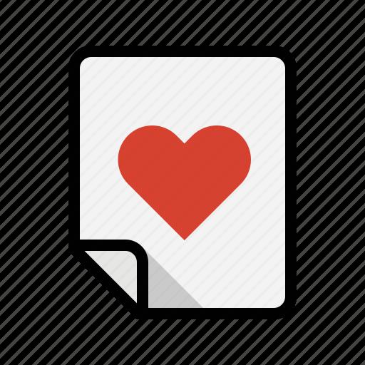 favorite, files, heart, like, love icon