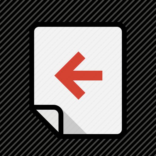 files, left, previous icon