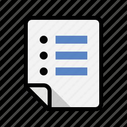files, list icon