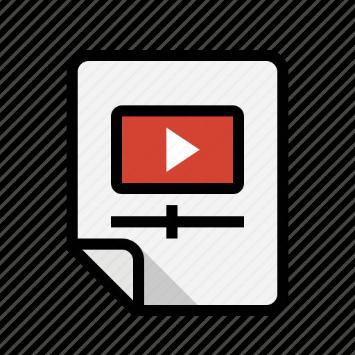 files, video icon