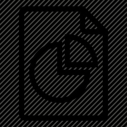 chart, data, document, graph, pie, report icon