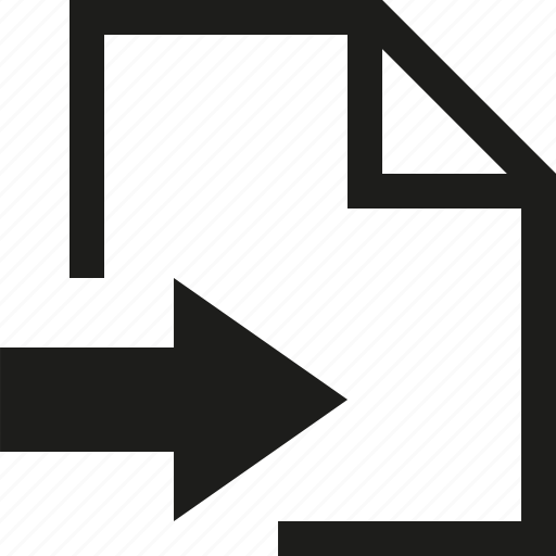 arrow, document, file, move icon