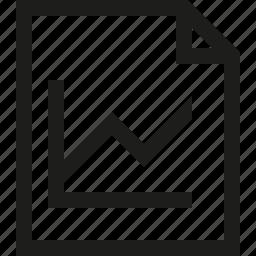 analytics, chart, document, file, graph icon