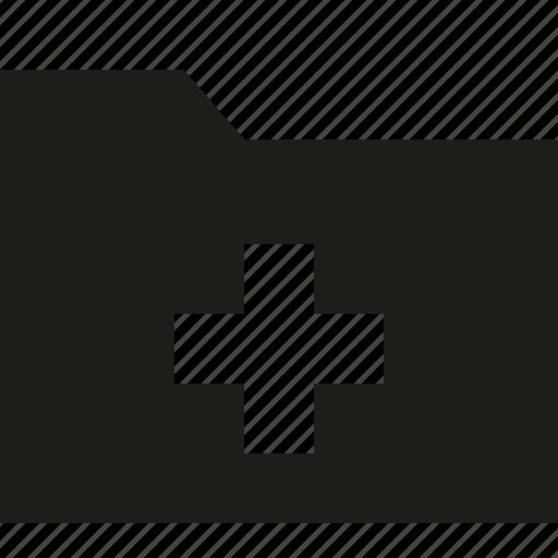 add, filled, folder, plus icon