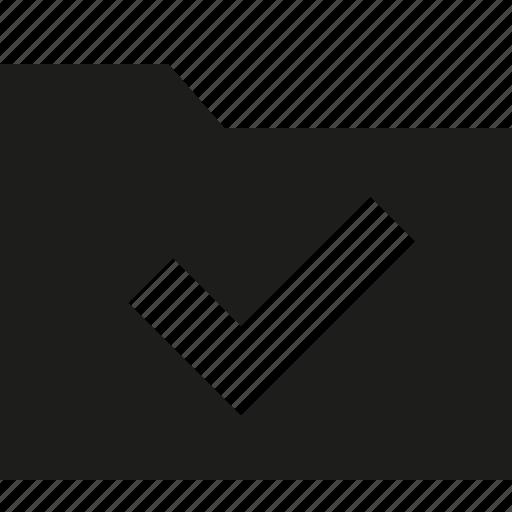 accept, check, done, folder icon