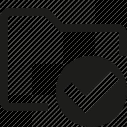 accept, check, folder icon