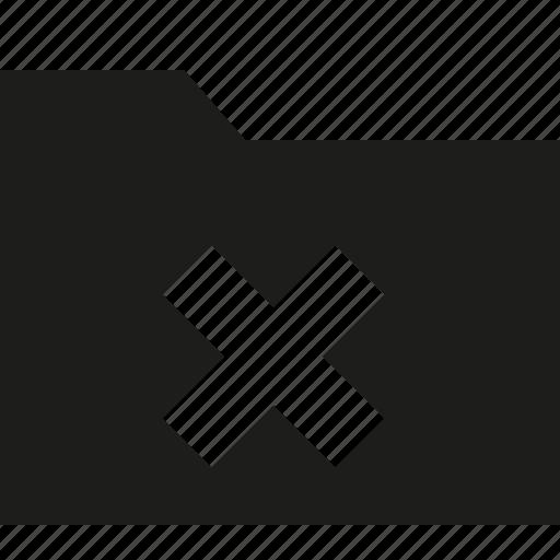 delete, filled, folder, remove icon