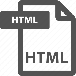 document, extension, file, format, html, sheet, type icon
