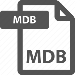 document, extension, file, format, mdb, sheet, type icon