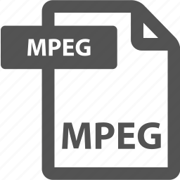 document, extension, file, format, mpeg, sheet, type icon