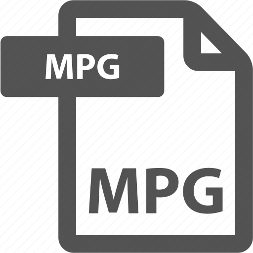 document, extension, file, format, mpg, sheet, type icon