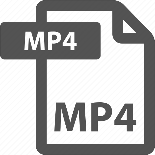 document, extension, file, format, mp4, sheet, type icon