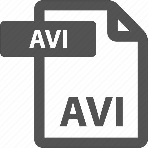 avi, document, extension, file, format, sheet, type icon