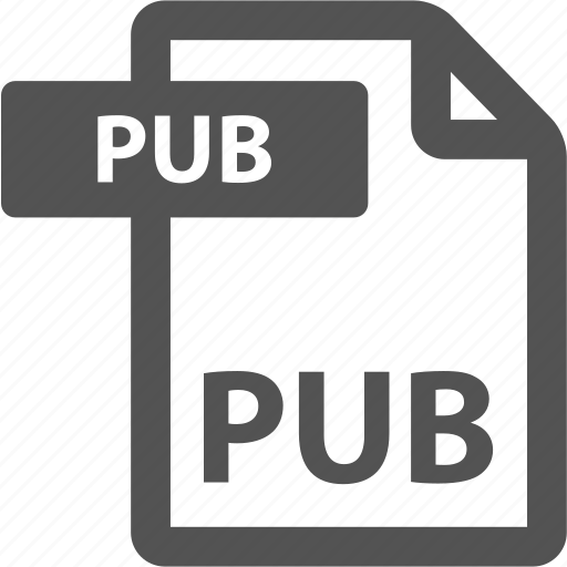 document, extension, file, format, pub, sheet, type icon