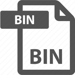 bin, document, extension, file, format, sheet, type icon