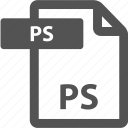 document, extension, file, format, ps, sheet, type icon