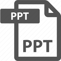 document, extension, file, format, ppt, sheet, type icon