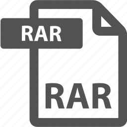 document, extension, file, format, rar, sheet, type icon