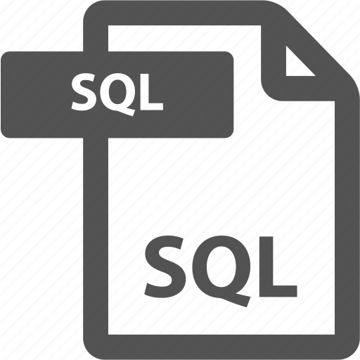 document, extension, file, format, sheet, sql, type icon