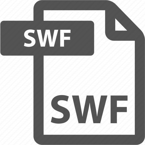 document, extension, file, format, sheet, swf, type icon