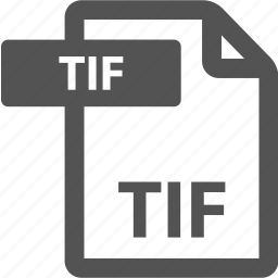 document, extension, file, format, sheet, tif, type icon