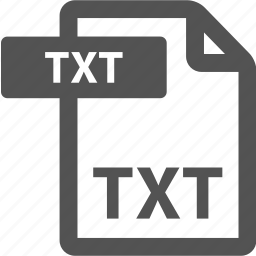 document, extension, file, format, sheet, txt, type icon