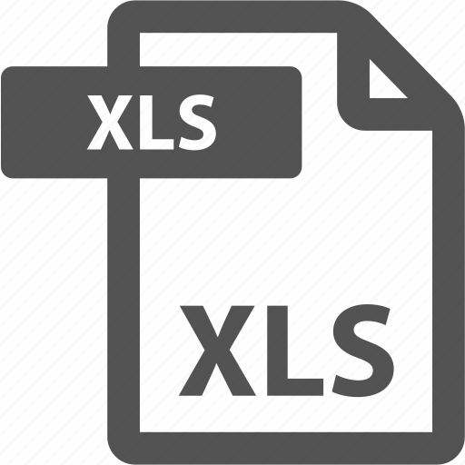 document, extension, file, format, sheet, type, xls icon