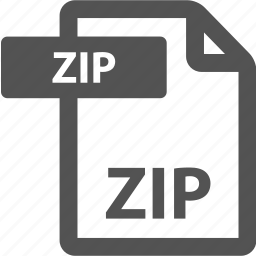 document, extension, file, format, sheet, type, zip icon
