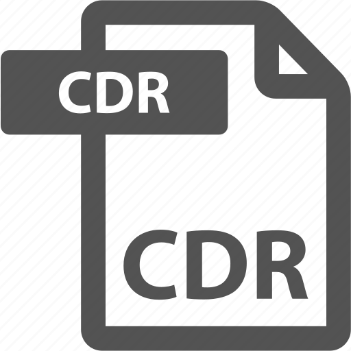 cdr, document, extension, file, format, sheet, type icon