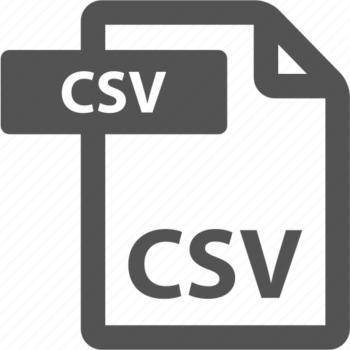 csv, document, extension, file, format, sheet, type icon