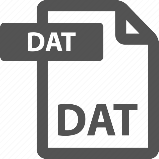 dat, document, extension, file, format, sheet, type icon