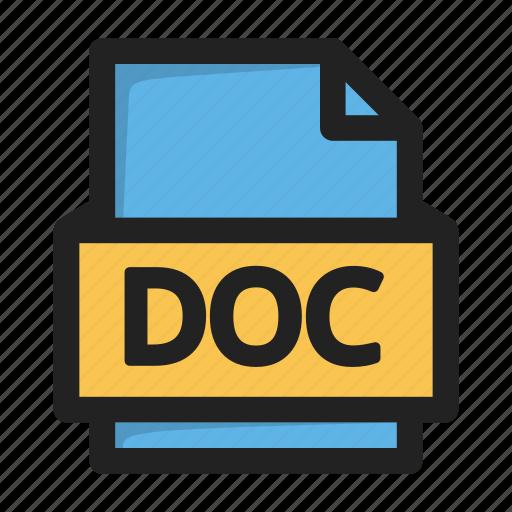 doc, file, type icon