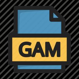 file, gam icon