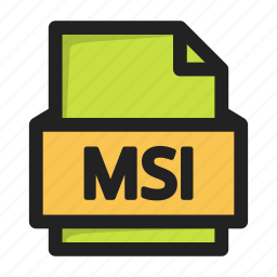file, msi icon